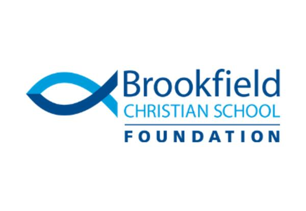 this is a blue logo of Brookfield Christian School Foundation