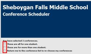 step two of the conference scheduler