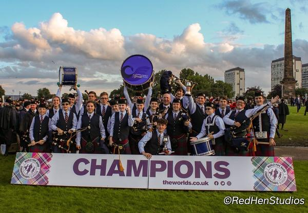 Group shot from the piping championships.