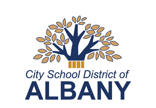 City School District of Albany logo and tree
