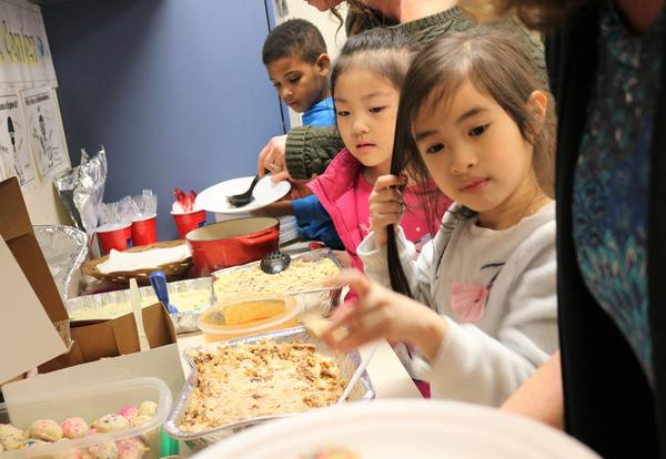 Eagle Point Elementary students celebrated Thanksgiving with an international feast.