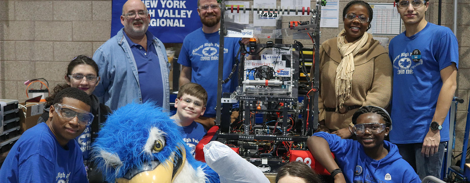 Group photo of the Albany High Robotics Team.