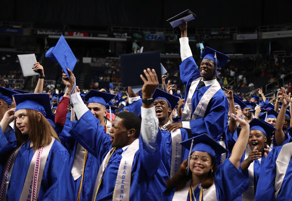 Graduates celebrate at Albany High's 2019 commencement ceremony