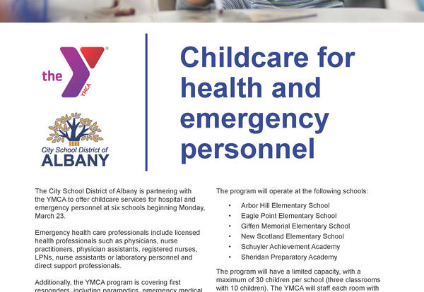 Image of YMCA childcare flyer