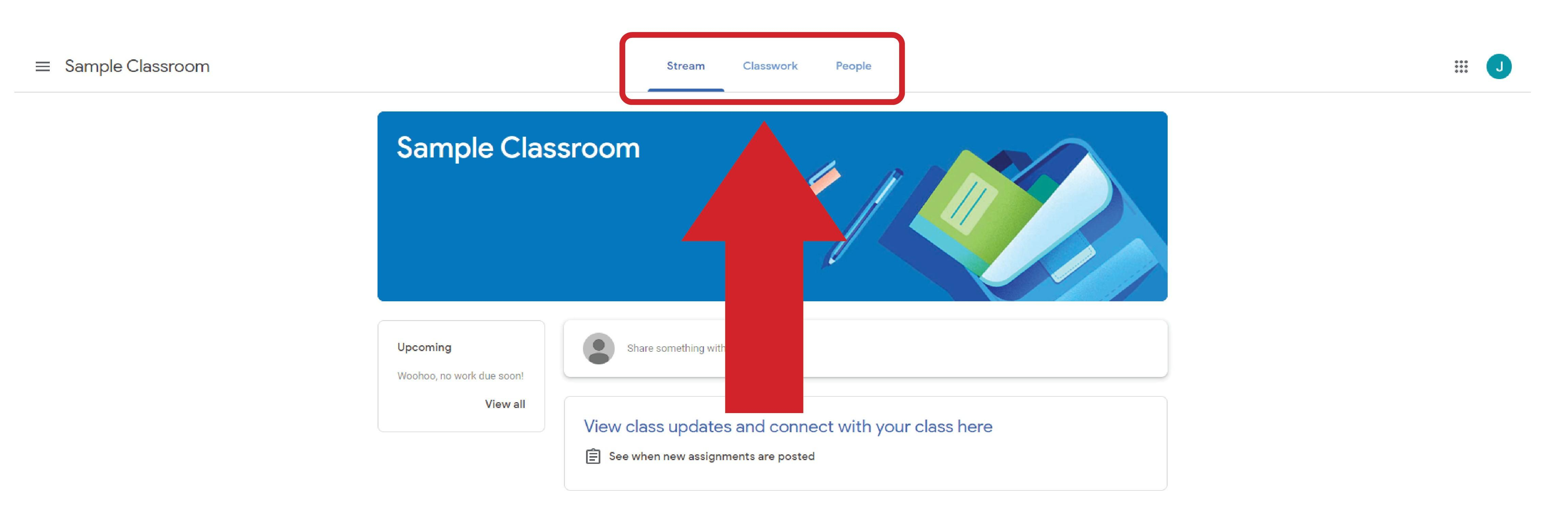 Google Classroom Sign-in Procedures - Screen #5
