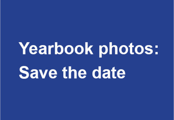 Yearbook photos: Save the date