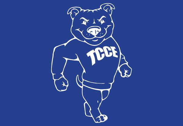 TCCE bulldog logo