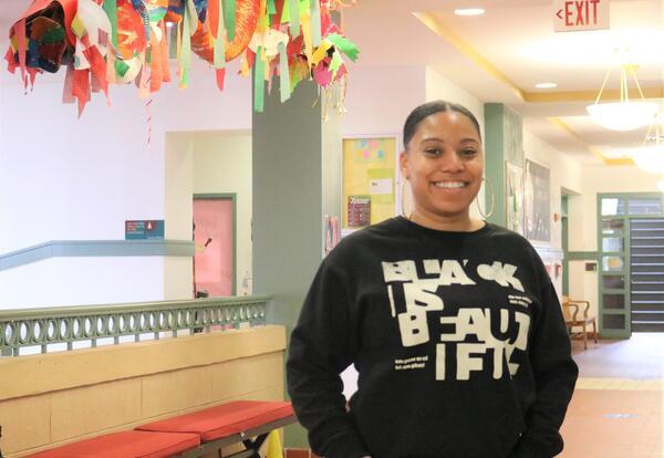 Albany School of Humanities Home School Coordinator, Akira Marshall.