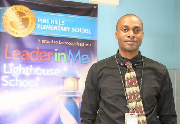 Morgan Austin in Pine Hills Elementary School's home school coordinator.