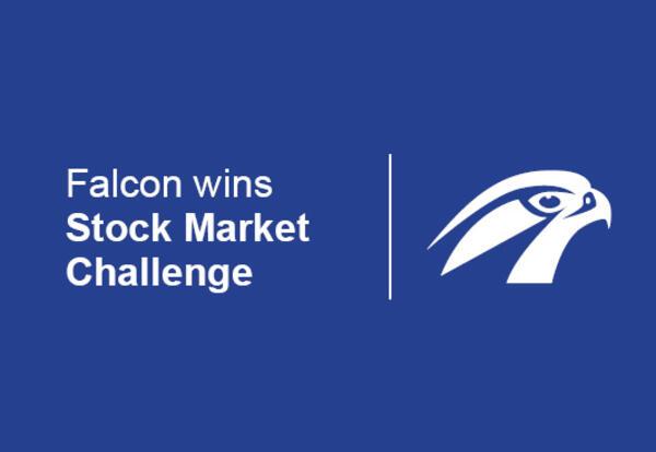 Falcon wins stock market challenge