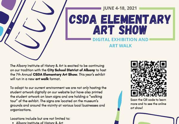 City School District of Albany art show flyer