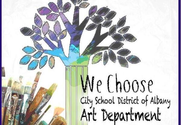 City School District of Albany Art Department logo.