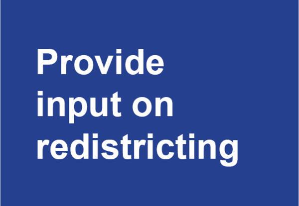 Provide input on redistricting