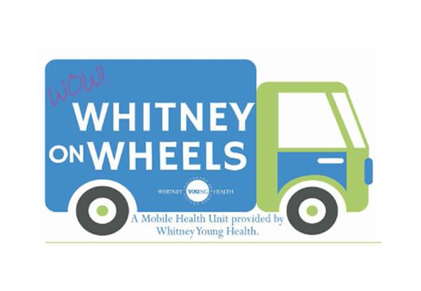 Whitney on Wheels cartoon van