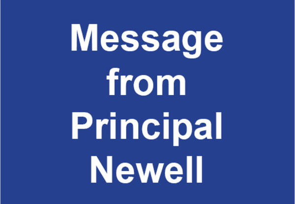 Message from Principal Newell