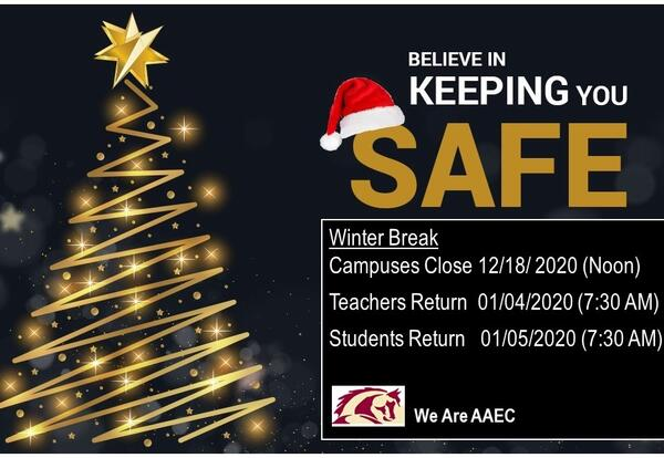 Be Safe with  Gold Tree and black background