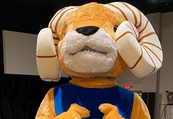 GCA Mascot Ramsey the Ram
