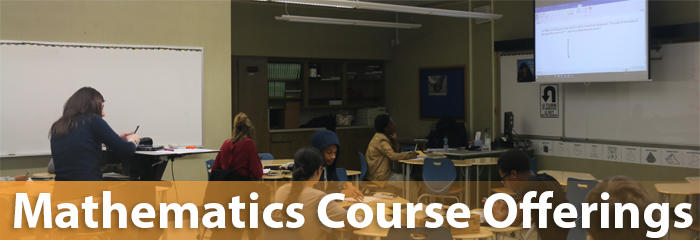 Mathematics Course Offerings and Descriptions at the OPRF