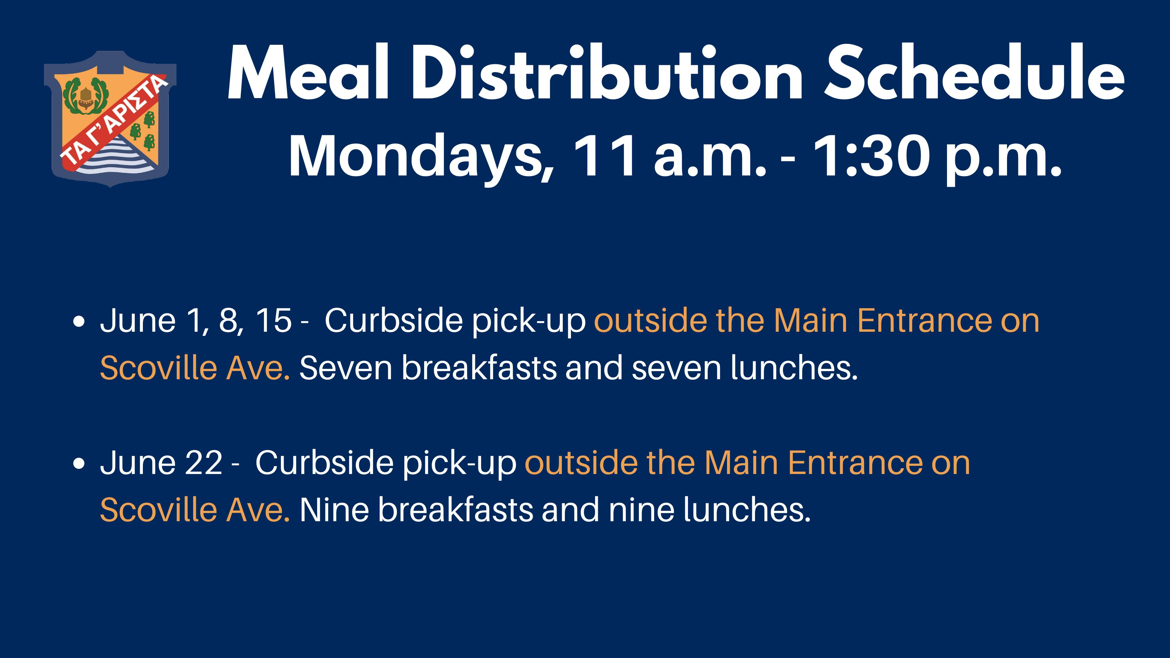 Meal Distribution Update