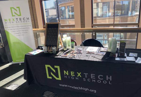 Table with NexTech gear