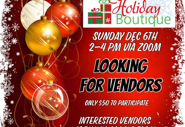 SJDL Holiday Boutique Vendors Needed