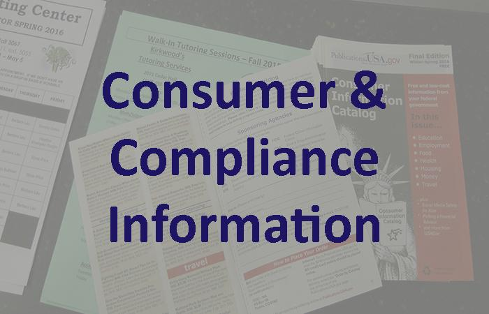 Financial Aid: Consumer & Compliance Information