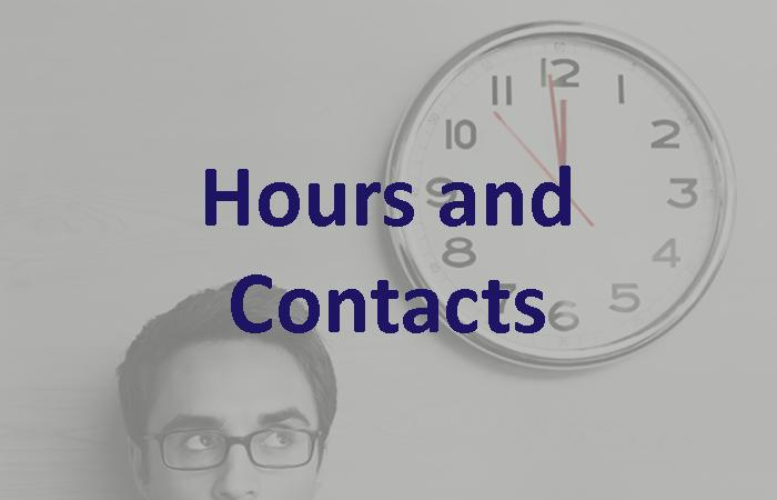 Financial Aid: Hours and Contacts