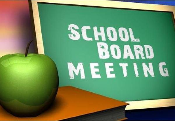 School Board Meeting ~ Monday, March 8, 2021