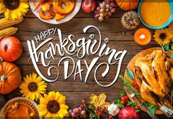 Thanksgiving Break ~ November 25- November 27