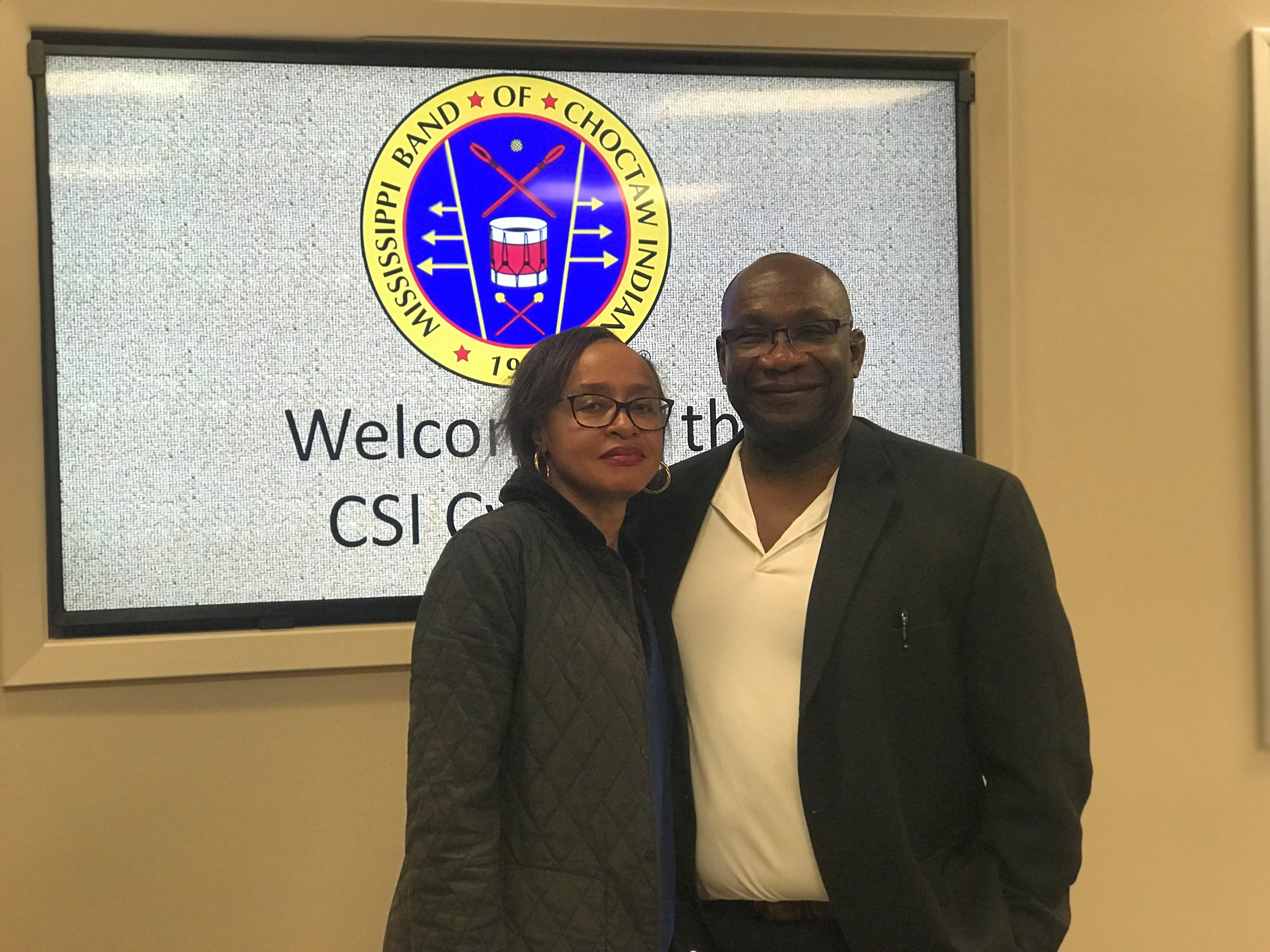 J.R. Richardson of Cockrell, Webb & Associates LLC and his wife on their visit to CSI Lab