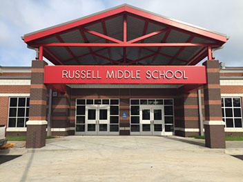 Russell Middle School front of building