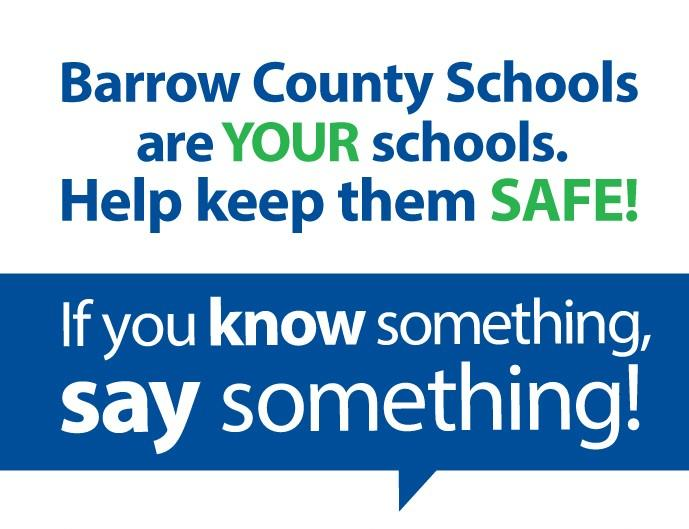 Know Something, Say Something School Safety Poster