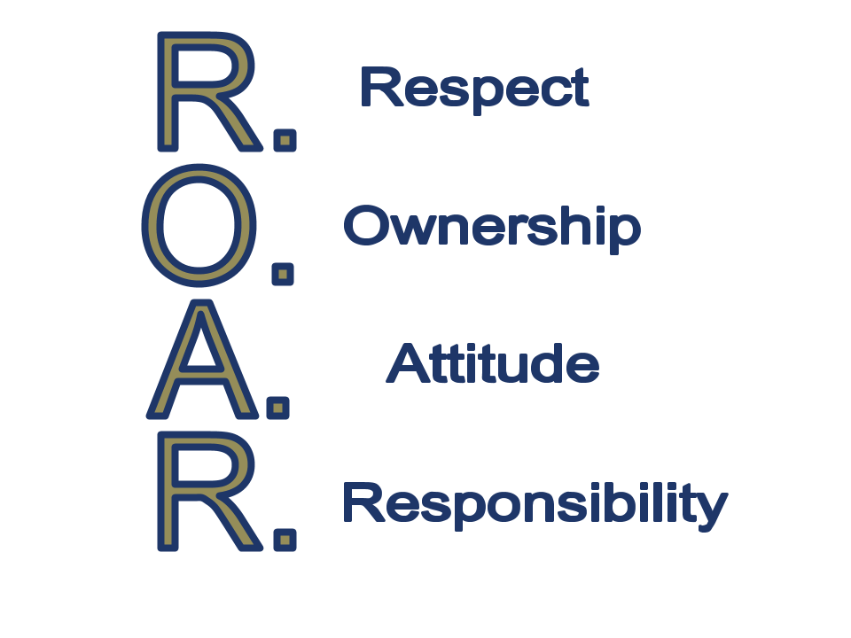 ROAR - Respect, Ownership, Attitude, Responsibility