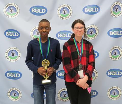 District Spelling Bee Winner and Runner-Up