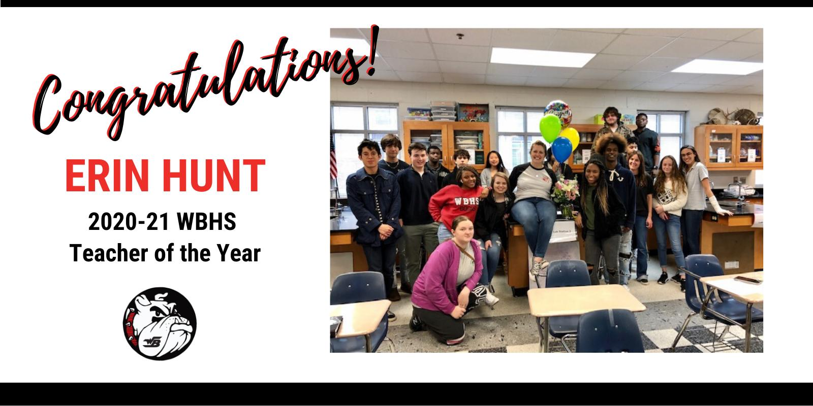 2020 WBHS Teacher of the Year - Erin Hunt
