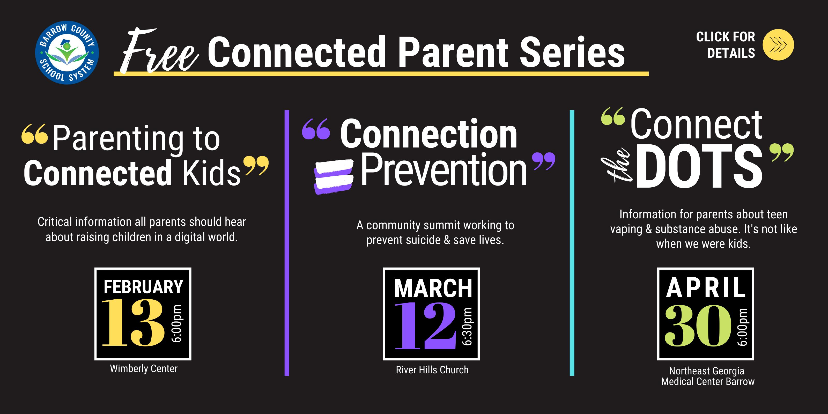 Free Connected Parent Series