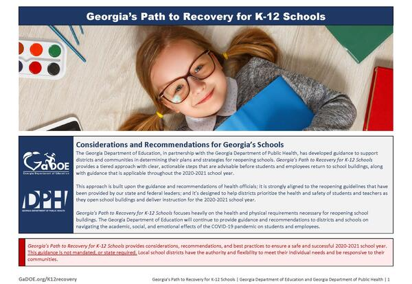 Georgia's K-12 Restart & Recovery Plan