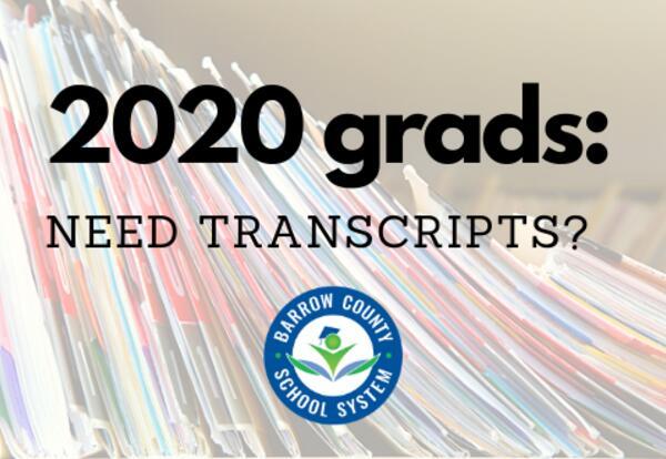 Transcript Information for 2020 Graduates