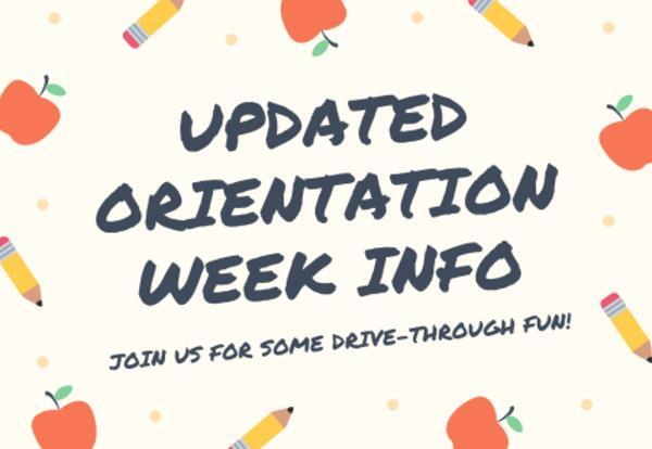 Updated Orientation Week Information