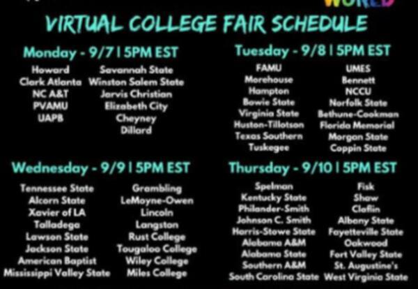 HBCU's Virtual College Fair