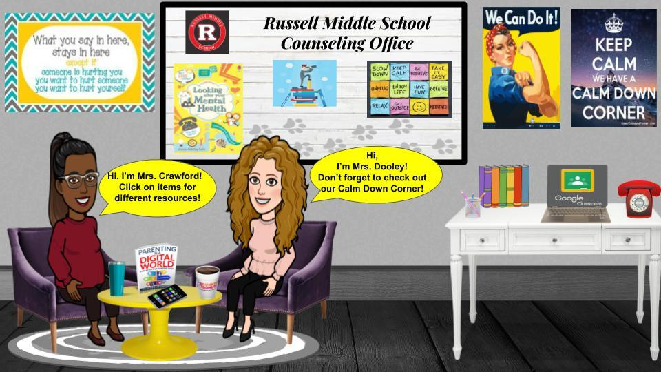 Cartoon image of the RMS counselors' office