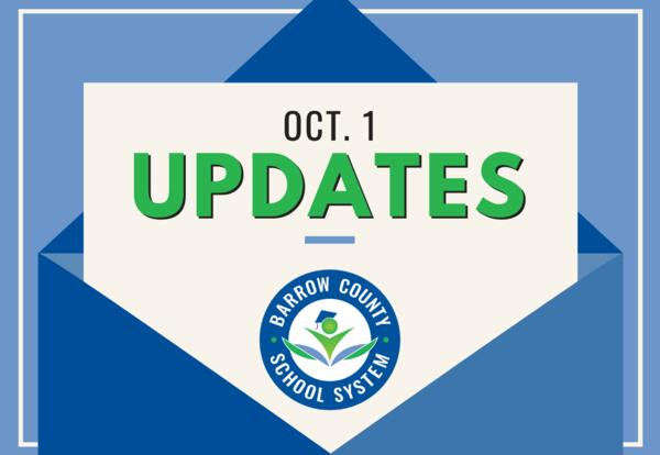 October 1 Updates from BCSS
