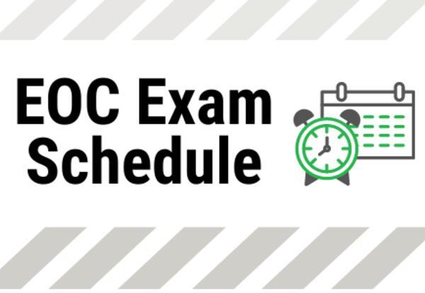 Eoc Exam Schedule