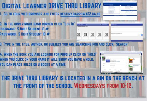 Digital Learner Drive Thru Library