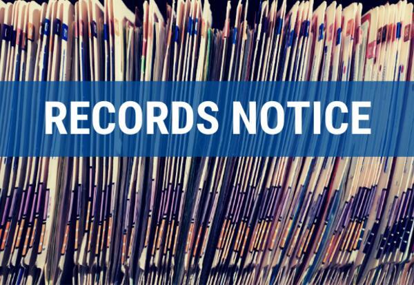 Special Education Records Destruction Notice