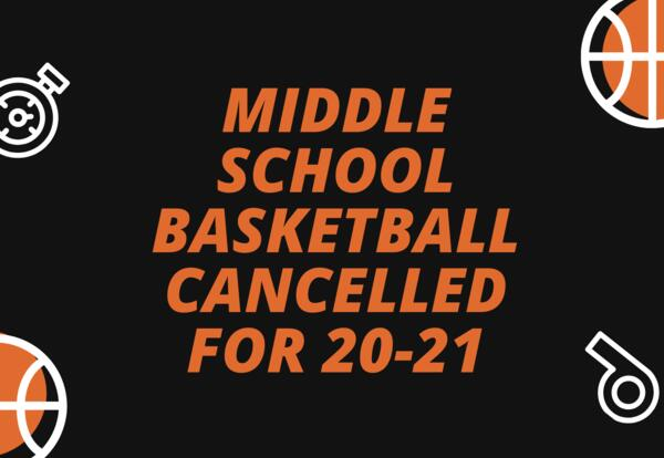 Middle School Basketball Cancelled