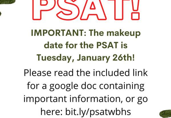 NEW - PSAT - January 26, 2021