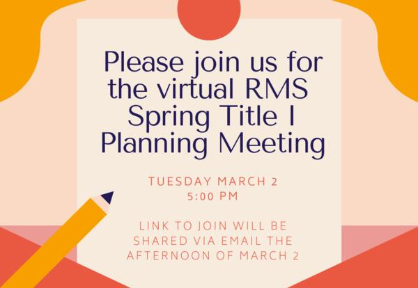 Attention: Families! Get involved at RMS!