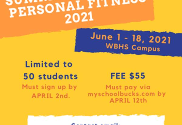 Rising 9th Graders: Summer Health & PE Opportunity