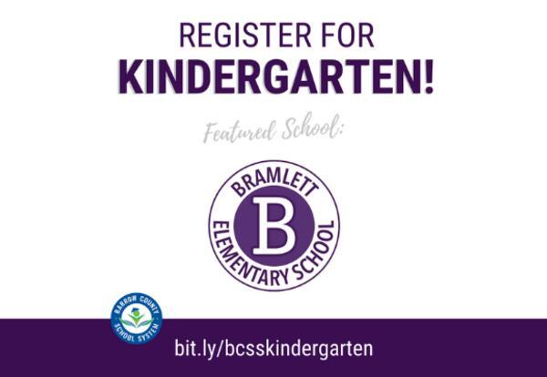 Kindergarten at Bramlett Elementary